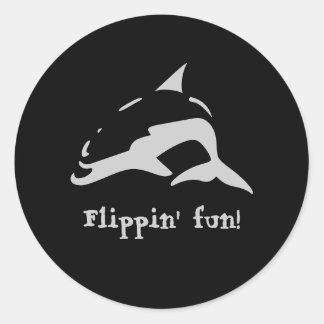 Flippin' fun! classic round sticker