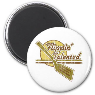 Flippin' Talented 2 Inch Round Magnet