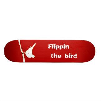 Flippin the Bird Red Skateboard