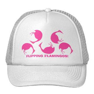 Flipping Flamingos! Cute Tumbling Birds Hat! Trucker Hat