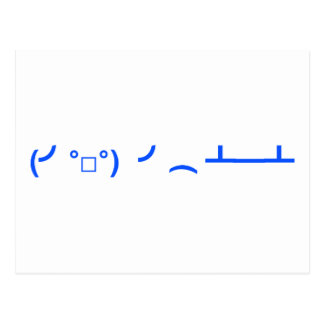 Flipping Tables Emoticon Meme Postcard