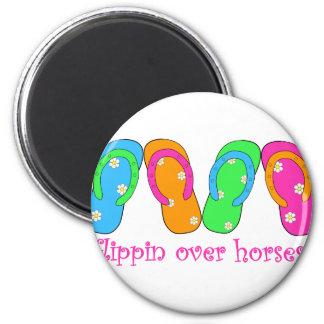flippinoverhorses 2 inch round magnet