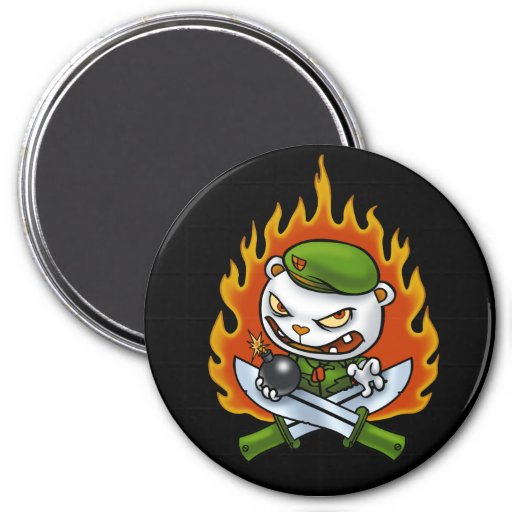 Flippy Flame Tattoo Magnet