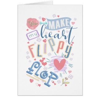 Flippy Flop Heart ID311 Card