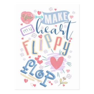 Flippy Flop Heart ID311 Postcard