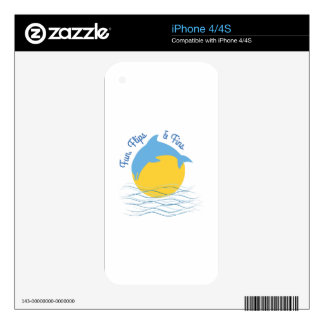 Flips & Fins Decal For The iPhone 4