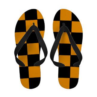 Flips-flopes a cuadros amarillos y negros
