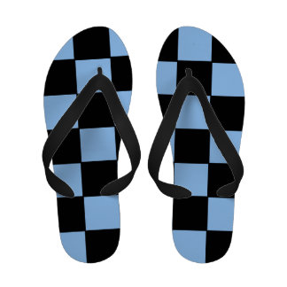 Flips-flopes a cuadros azules y negros