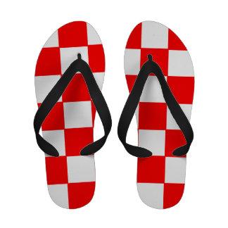 Flips-flopes a cuadros rojos y blancos