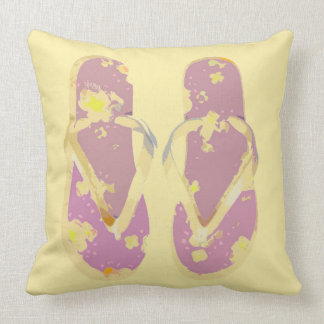 Flips-flopes (amarillo/rosa) cojin