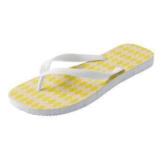 Flips-flopes amarillos de Argyle