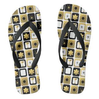 Flips-flopes atractivos retros del oro