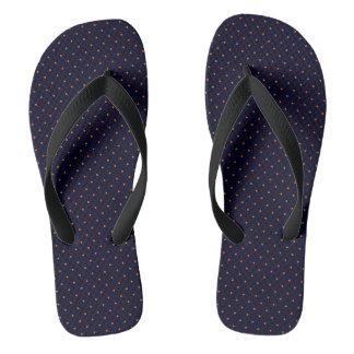 Flips-flopes azul marino con los puntos