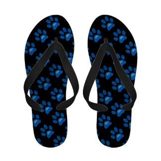 Flips-flopes azules del modelo de Pawprint que bri