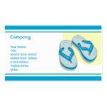Flips-flopes azules plantillas de tarjetas de visita