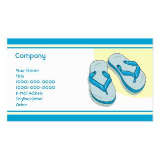 Flips-flopes azules tarjetas de visita