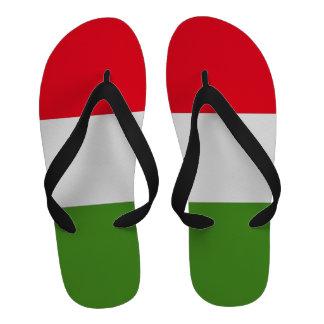 Flips-flopes blancos y verdes rojos