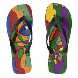 Flips-flopes coloridos del arte abstracto del