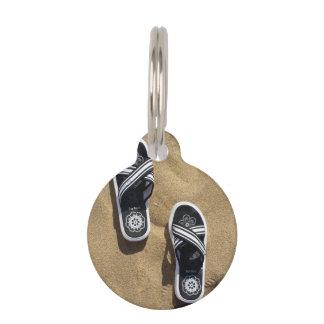 Flips-flopes con playas placas de mascota