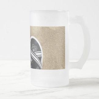 Flips-flopes con playas taza de cristal