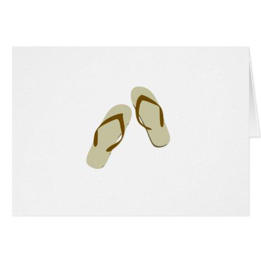 Flips-flopes/correas Tarjeta De Felicitación