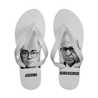 Flips-flopes de Adorno y de Horkheimer Sandalias De Playa