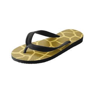 Flips-flopes de encargo de la jirafa, niños chanclas para niños