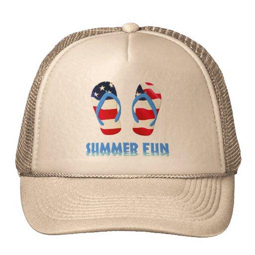 Flips-flopes de la diversión del verano - los E.E. Gorras De Camionero