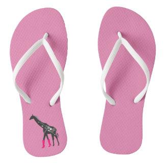Flips-flopes de la jirafa del fashionista chanclas