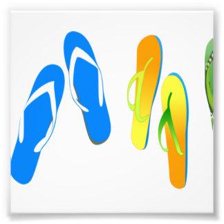 Flips-flopes de la playa cojinete