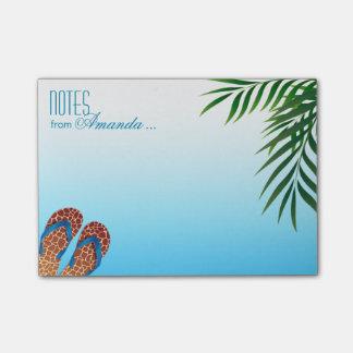 Flips-flopes de la playa personalizados post-it® nota