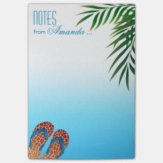 Flips-flopes de la playa personalizados post-it® notas