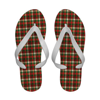 Flips-flopes de la tela escocesa del navidad