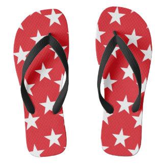 Flips-flopes de las estrellas del rojo y del