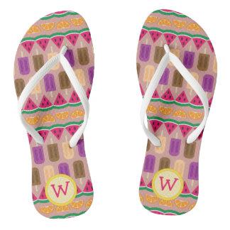 Flips-flopes de los dulces de verano