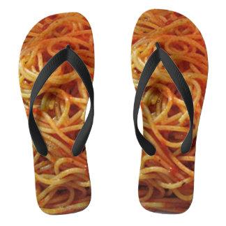 Flips-flopes de los espaguetis