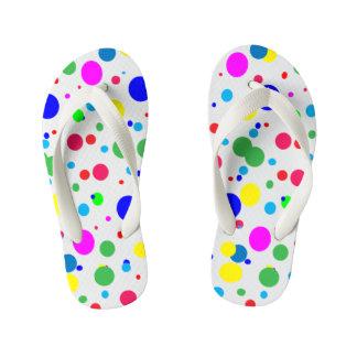 Flips-flopes de los niños de las burbujas del