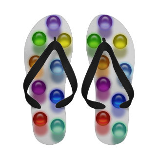 Flips-flopes de mármol tridimensionales coloridos