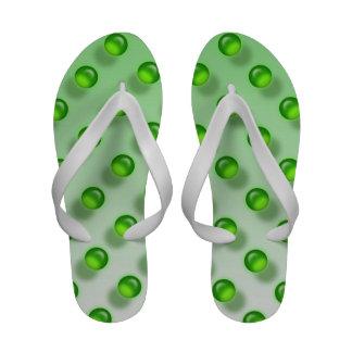 Flips-flopes de mármol verdes de Ombre de la menta