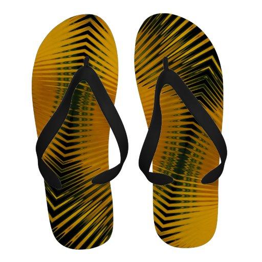 Flips-flopes de oro del ~ del atrapamoscas