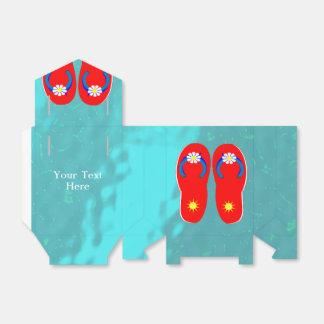 Flips-flopes de Sun del verano personalizados Cajas Para Regalos De Boda