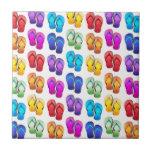 Flips-flopes del arco iris azulejos ceramicos