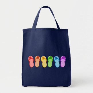Flips-flopes del arco iris bolsa tela para la compra