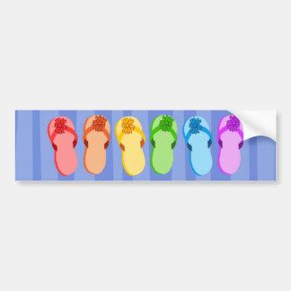 Flips-flopes del arco iris etiqueta de parachoque