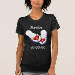 Flips-flopes del boda camiseta