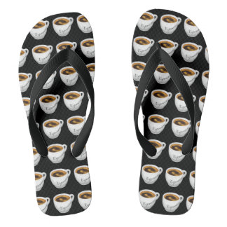 Flips-flopes del café express usted mismo