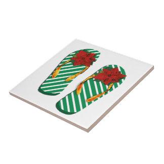 Flips-flopes del fiesta de Navidad Azulejos Cerámicos