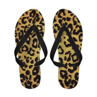 Flips-flopes del guepardo de las mujeres