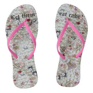 Flips-flopes del lujo de Marie Antonieta