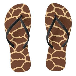 Flips-flopes del modelo de la piel de la jirafa chanclas